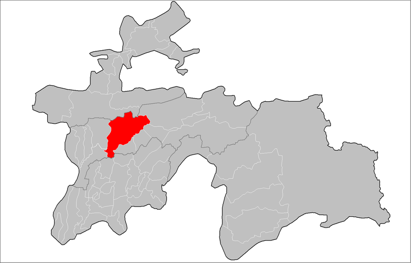 Акс:Location of Vahdat District in Tajikistan.png
