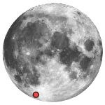Location of lunar crater longomontanus
