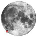 Location of lunar crater schickard