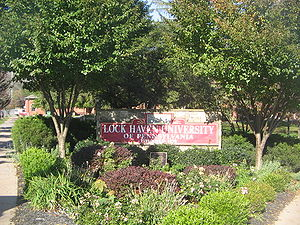 Lock Haven University of Pennsylvania - Lock Haven University sign