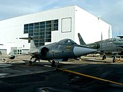A former Luftwaffe F-104 Starfighter at Le Bourget.