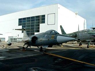 Johannes Steinhoff - A former Luftwaffe F-104 Starfighter at Le Bourget.