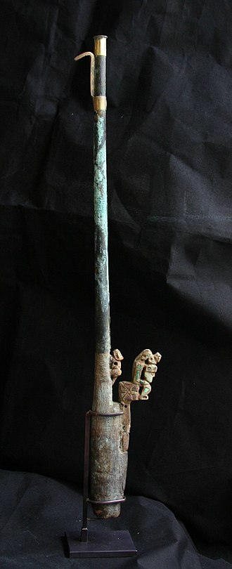 Spear-thrower - Ceremonial atlatl, Peru, 0–300 A.D., Lombards Museum