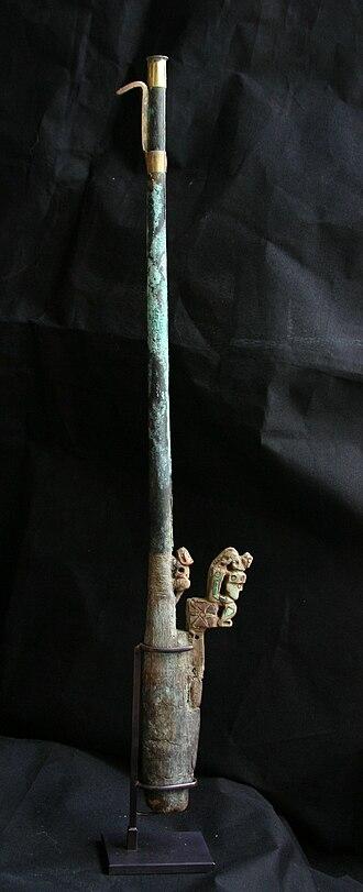 Spear-thrower - Ceremonial atlatl, Peru, 0–300 A.D., Lombards Museum