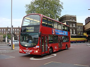 London Buses route 1 - East Thames Buses Wright Eclipse Gemini bodied Volvo B7TL at Waterloo in April 2007