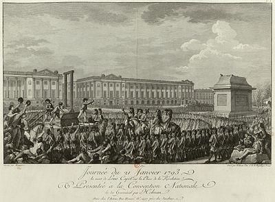 La ejecución de Luis XVI.