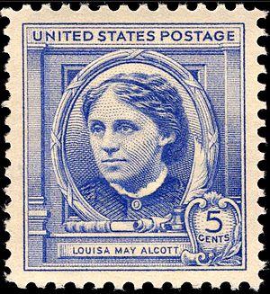 Louisa May Alcott - Louisa May Alcott commemorative stamp, 1940 issue