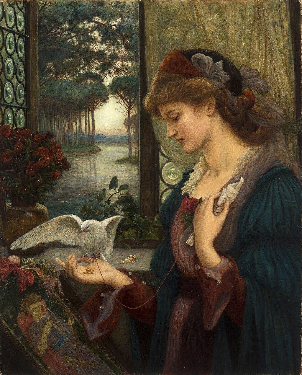 """Love's Messenger"" by Marie Spartali Stillman – Joy of Museums"