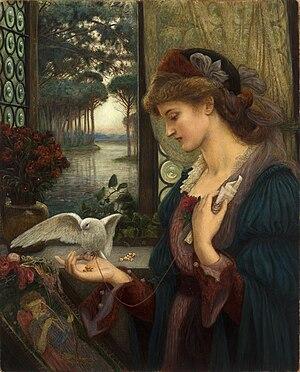 Love letter - Love's Messenger by Marie Spartali Stillman