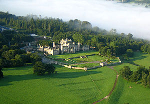 Lowther Castle - Aerial view of Lowther Castle