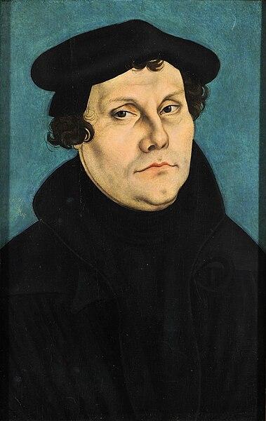 Martín Lutero, pintado por Lucas Cranach el Viejo.