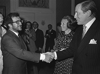 Luciano Berio - Berio meets Princess Beatrix and Prince Claus of the Netherlands in the Hague in 1972