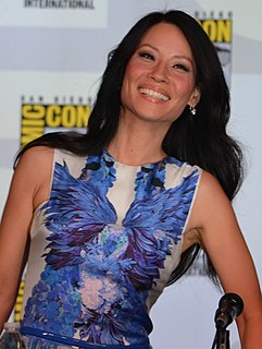 Lucy Liu Asian American actress and model