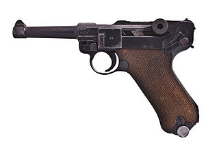 Luger pistol semi-automatic pistol of German origin
