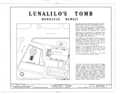 Lunalilo's Tomb, Punchbowl and King Streets (Kawaiahao Churchyard), Honolulu, Honolulu County, HI HABS HI,2-HONLU,16- (sheet 1 of 6).png