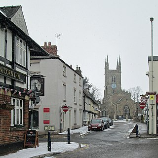 Lutterworth Town in Leicestershire, England