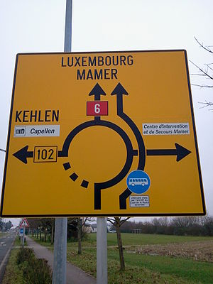 Luxembourg road sign E 1 a4.jpg