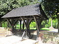 Lych gate of St Chad's Church, Kirkby.jpg