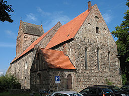 Church in Lychen in Brandenburg, Germany