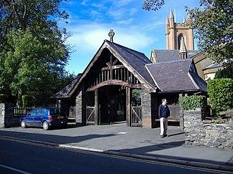 Kirk Michael railway station - Church Lychgate