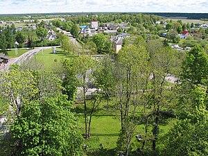 Märjamaa - View from the Märjamaa church.