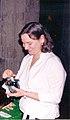 Mónica Dower en su video instalación La llamada, San Ildefonso, 2003.jpg