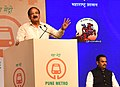 M. Venkaiah Naidu addressing at the foundation stone laying ceremony of the Pune Metro Project (Phase 1), in Pune.jpg