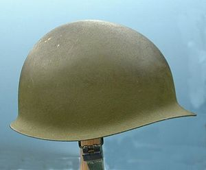 Olive (color) - An M1 helmet, the standard helmet of the U.S. Army from 1941 through the Vietnam War. This helmet is from the Vietnam War; the color is olive green 107.