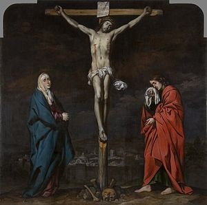 Crucifixion of Christ with Mary and John