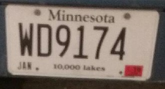 Drunk driving in the United States - Image: MN drunk plate