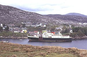 "MV Hebrides (1964) - Image: MV ""Hebrides"" at Tarbert geograph.org.uk 201575"