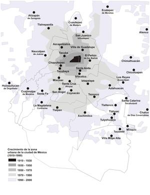 MX-DF-Crecimiento de la ciudad de México