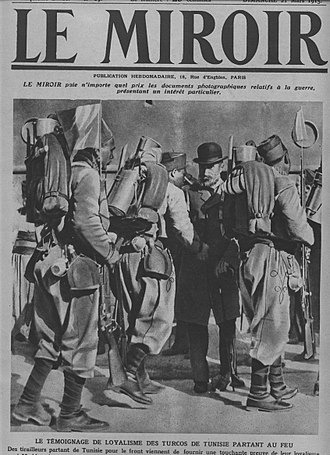 Gabriel Alapetite - Alapetite with Tunisian soldiers leaving for the front in 1915