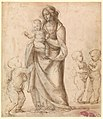 Madonna and Child with the Infant Saint John the Baptist and Two Putti (recto); Madonna and Child with the Infant Saint John the Baptist and a Putto (verso) MET DP324212.jpg