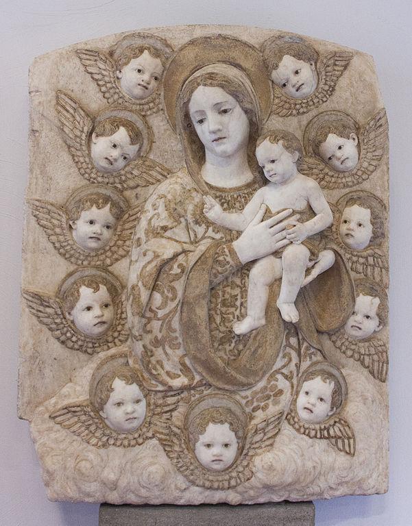 Madonna con bambino au musée Abatellis à Palerme. Photo de Davide Mauro