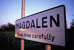 Magdalen welcome sign, Velvia.jpg