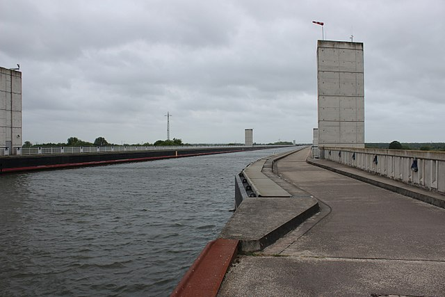 Magdeburg waterways cross canal bridge