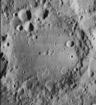 Maginus (crater) - Lunar Orbiter 4 image