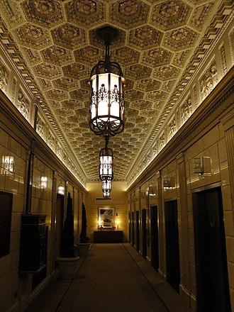 Magnolia Hotel (Dallas, Texas) - Image: Magnolia Building Dallas Elevator Lobby