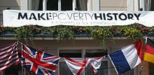 Make Poverty History banner 2005 Jersey.jpg