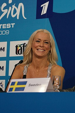 Malena Ernman at Eurovision 2009