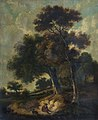 Man and Dog on a Path in a Wooded Landscape by Robert Ladbrooke.jpg