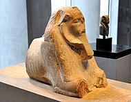 Maned sphinx of Amenemhat III. 12th Dynasty, c. 1800 BC. State Museum of Egyptian Art, Munich.jpg