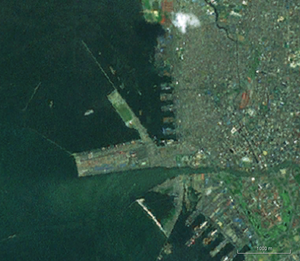 Port of Manila - Landsat view of the Container Terminal.