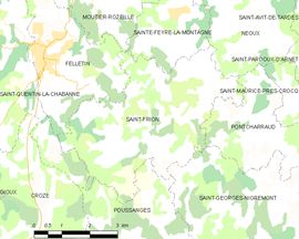 Mapa obce Saint-Frion