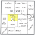 Map highlighting Russell Township, Russell County, Kansas.png