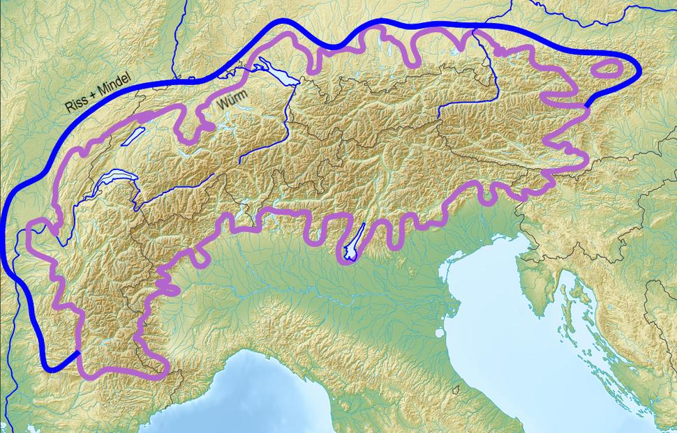 Map of Alpine Glaciations