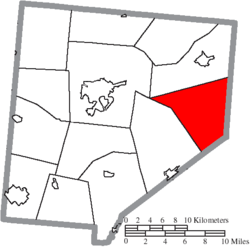 Location of Wayne Township in Clinton County