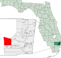 Map of Florida highlighting Weston.png