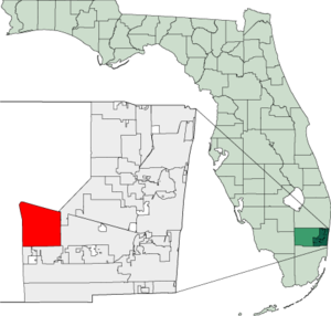 Map of Florida highlighting Weston.png